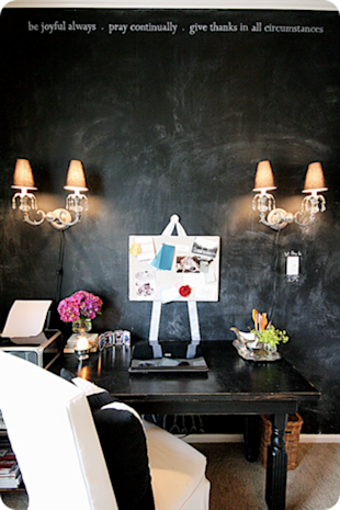 Make a blackboard inspiration wall