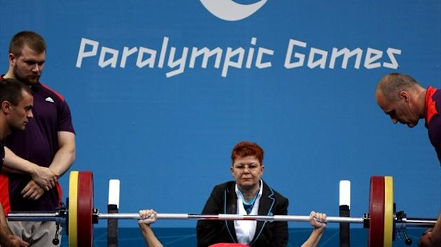 Paralympic powerlifting, London 2012 (Reuters)