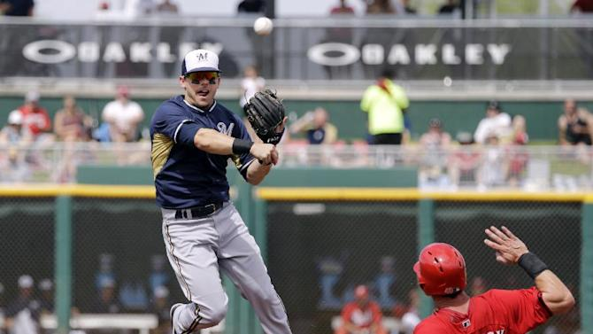 Brewers rough up Leake with 6-run second inning