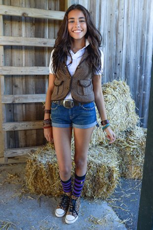 Madison Beer courtesy of Ralph Lauren