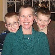 Jen Singer with her boys, February 2008