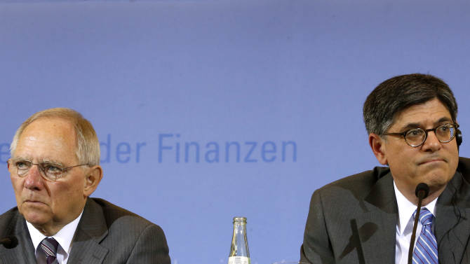 US, German finance chiefs downplay differences