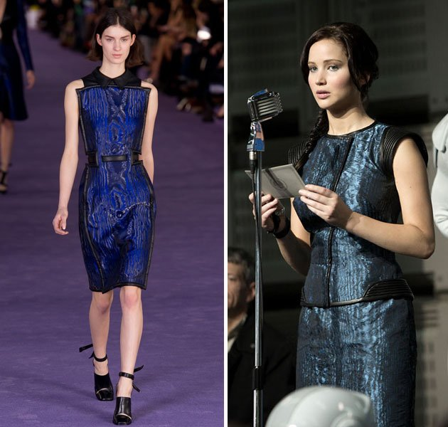 Effie And Katniss Dresses In Their Capitol Couture