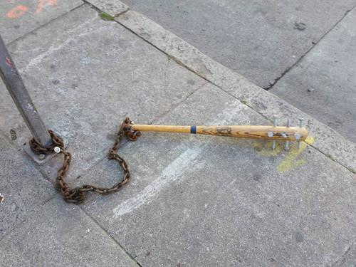 Spiked Baseball Bats Puzzle SF Residents and Police