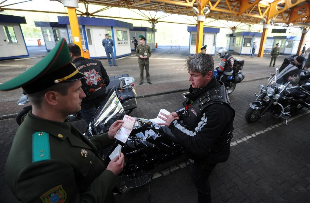 Pro-Putin bikers heading for Berlin barred at Polish border