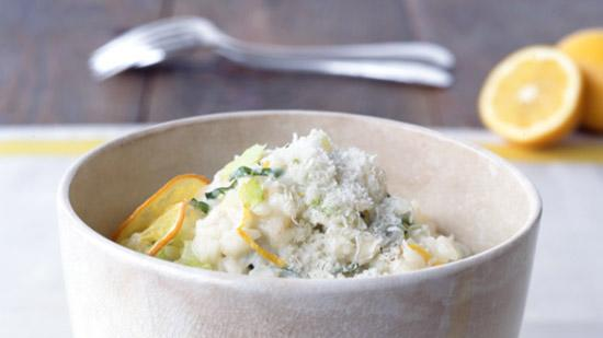 Meyer Lemon Risotto with Basil