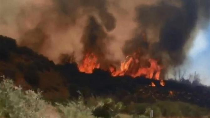 250-acre blaze erupts in Los Padres National Forest