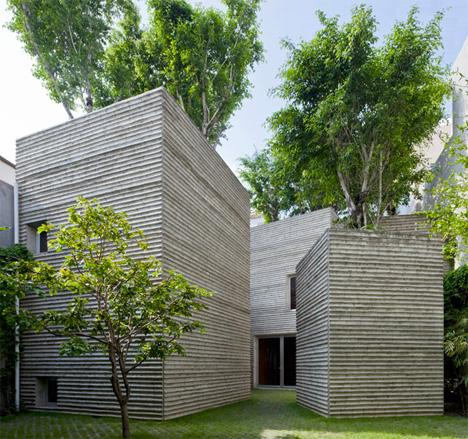 Tree-Topped Rectangular Houses Look Like Giant Potted Plants