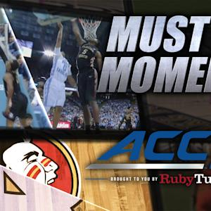 FSU's Smith & UNC's Tokoto Back-to-Back Blocks | ACC Must See Moment