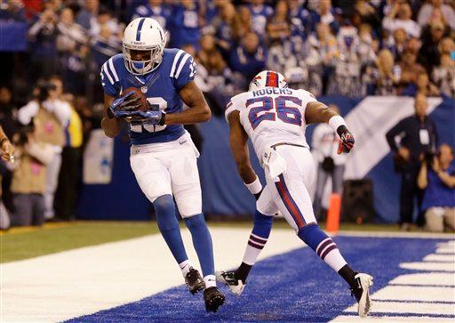 Hilton's big day leads Colts past Bills 20-13