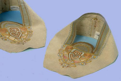 Slipper Uppers possibly designed and made by Ann MacBeth (c1900)
