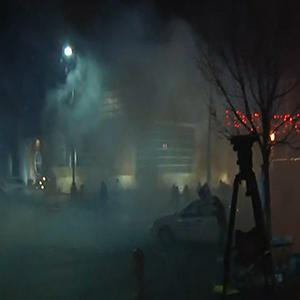 Raw: Violence in Ferguson After No Indictment