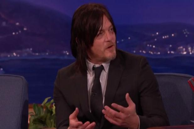 'Walking Dead' Star Norman Reedus Explains Why He Licks His Fans on 'Conan' (Video)