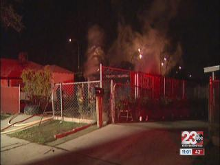 Garage found in flames on Kentucky