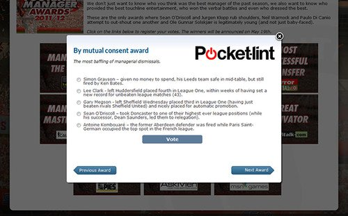 Pocket-lint and Sports Interactive team up for Football Manager Awards. SI Games, Gaming, Football, Football Manager, Sports Interactive, Football Manager Awards 0