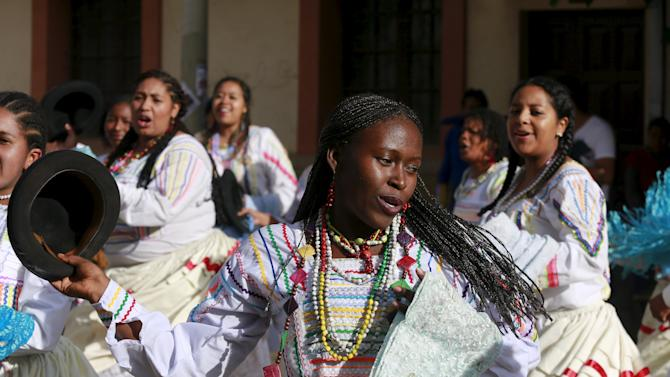Dancers from Afro-Bolivian community perform during the carnival parade in Oruro