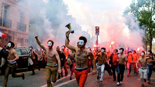 France's Flamboyant, Shirtless Anti-Gay Protesters Are Eyeing the Tour de France