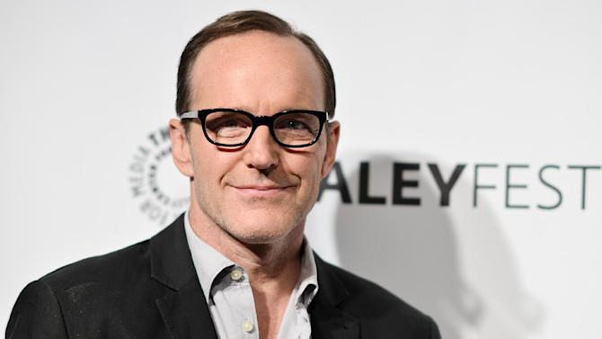 """FILE - In this March 23, 2014 file photo, actor Clark Gregg arrives at PALEYFEST 2014 - """"Marvel's Agents of S.H.I.E.L.D."""" in Los Angeles. Gregg stars in """"Marvel's Agents of S.H.I.E.L.D."""" airing Tuesdays at 9 p.m. EDT. (Photo by Richard Shotwell/Invision/AP, File)"""