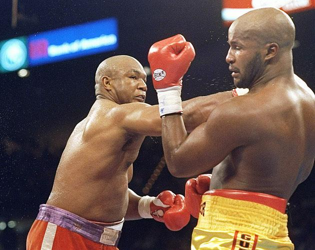 3. George Foreman KO10 Michael Moorer, Nov. 5, 1994 – Foreman was 45 years old and trying to regain the heavyweight title. He was being badly outboxed by Moorer throughout the first nine rounds,