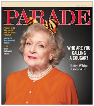 Betty White as seen on the cover of Parade magazine for their October 31, 2010 issue -- Parade