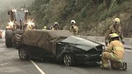 A man is dead after his car went off the Malahat Highway north of Langford, and went down the embankment into a ditch.