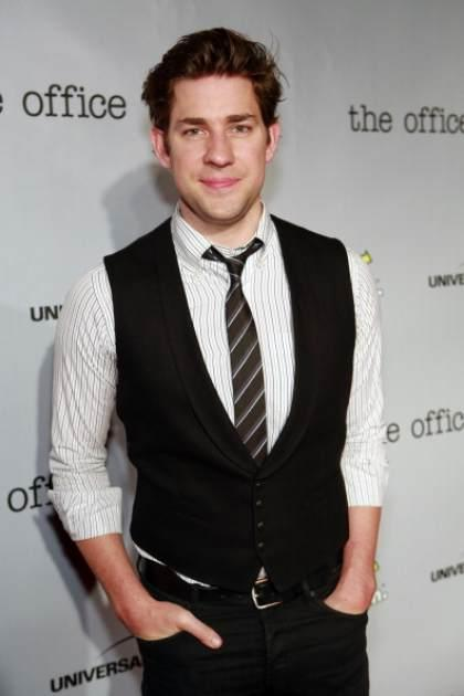 John Krasinski is seen at 'The Office' wrap party at in Los Angeles on March 17, 2013 -- NBC