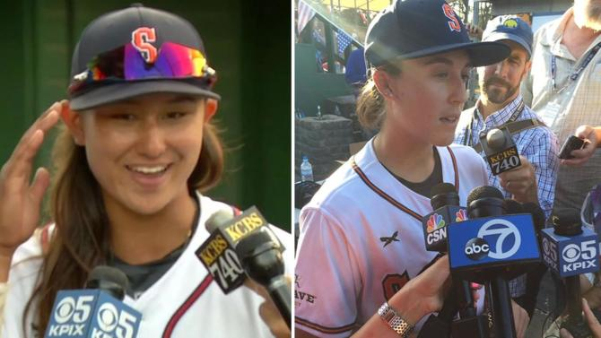 Sonoma Stompers make history as 2 women players take field