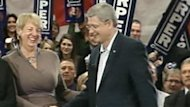 Stephen Harper pledged to support a Muskrat Falls loan guarantee during an election campaign stop in St. John's in 2011.