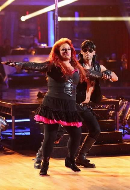 Wynonna Judd and Tony Dovolani rock out during prom night, Week 3, 'Dancing with the Stars,' Season 16, April 1, 2013 -- ABC