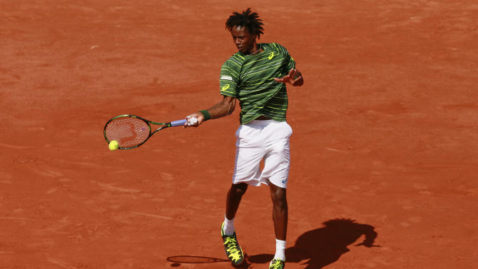 Tennis: Men's Singles - France's Gael Monfils in action during the second round