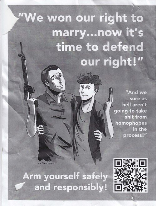 gay rights gun poster