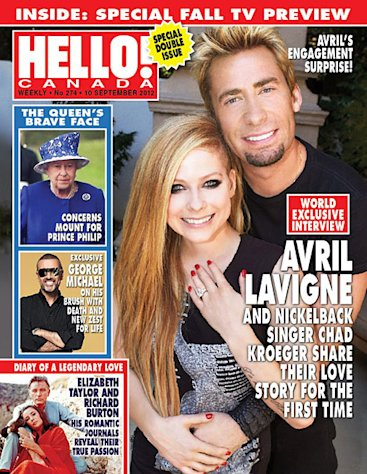 Avril Lavigne Debuts Chad Kroeger Engagement Ring on Hello! Canada Cover