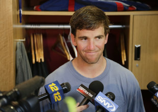 Eli Manning, always available, probably less-than-elite (AP Photo/Julie Jacobson)