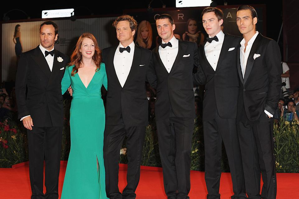 66th Annual Venice Film Festival 2009 Matthew Goode Tom Ford Julianne Moore Colin Firth Nicolas Hoult Jon Kortajarena