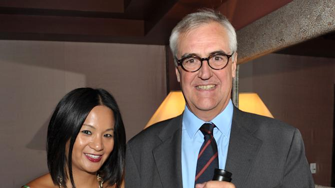 Hennessy's Thuy-Anh Nguyen left, and Maurice Hennessy attend the Hennessy pairing dinner at Crustacean on Monday, Sept. 10, 2012, in Beverly Hills, Calif. (Photo by John Shearer/Invision for Hennessy/AP Images)