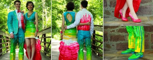 Amazing duct tape prom outfits win $20,000