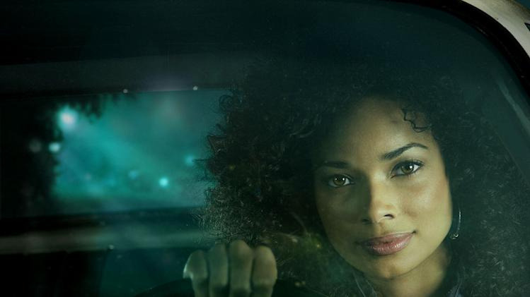 Leigh Barnthouse (Rochelle Aytes) participates in an underground cross-country road race in Drive.
