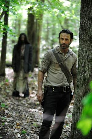 Andrew Lincoln as Rick Grimes in Season 4 of 'The Walking Dead' -- Gene Page/AMC