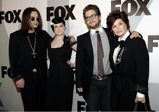 FILE - This Jan. 13, 2009 file photo shows the Osbournes, from left, Ozzy Osbourne, Kelly Osbourne, Jack Osbourne and Sharon Osbourne  arriving at the FOX Winter All-Star Party in Los Angeles. Jack Os