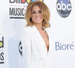 Miley Cyrus steps out at the 2012 Billboard Music Awards held at the MGM Grand Garden Arena in Las Vegas on May 20, 2012  -- Getty Images