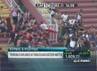 Terrible violence at Brazilian soccer match