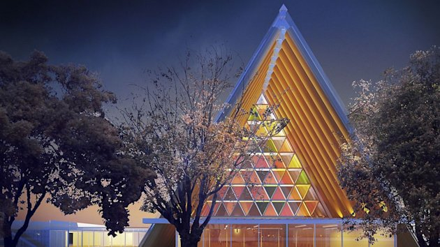World's First 'Cardboard Cathedral' Opens (ABC News)