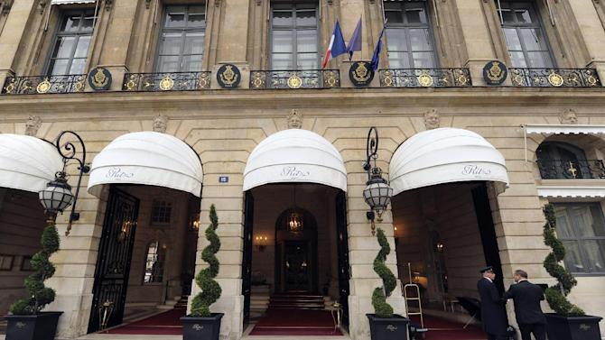 The entrance of the Ritz hotel in Paris, seen on October 18, 2011