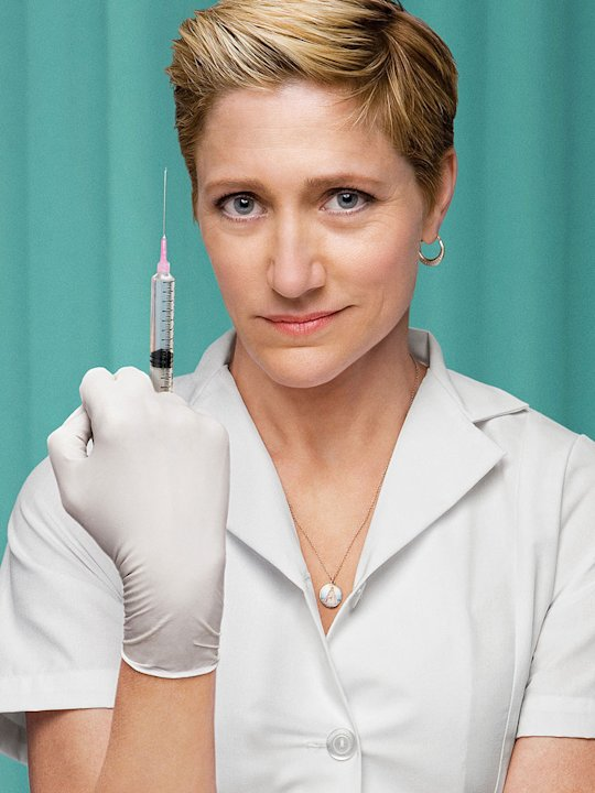 Edie Falco stars in the Showtime series Nurse Jackie.
