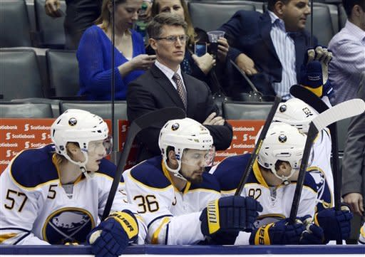 Sabres fall to Leafs in Rolston's debut as coach