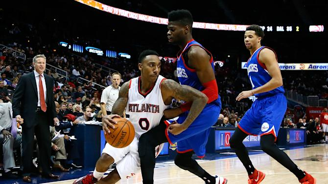Hawks beat 76ers 95-79 for 8th straight win