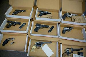 FILE--In this Dec. 9, 2013, file photo, firearms evidence …