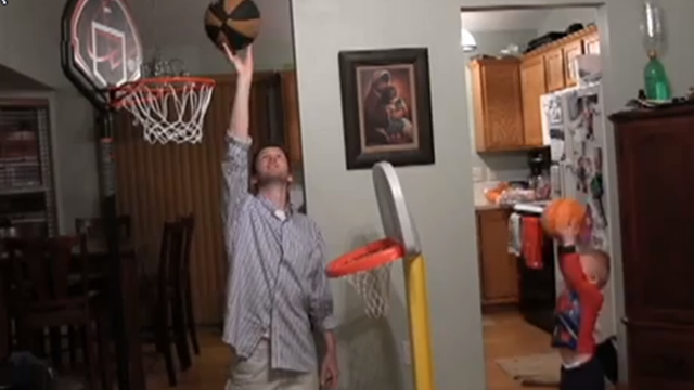 Two-year-old Titus's incredible basketball skills