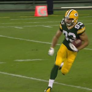 Green Bay Packers wide receiver Jeff Janis 61-yard kickoff return