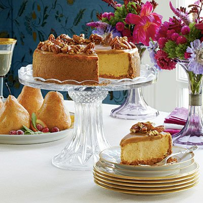 3. Pumpkin-Pecan Cheesecake
